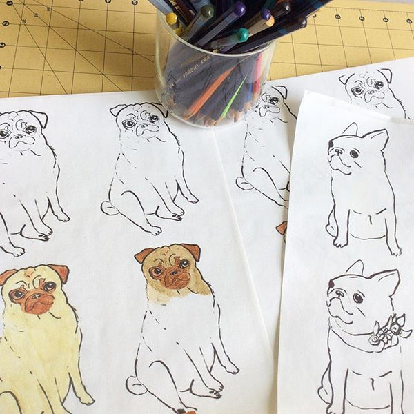Pug French Bull Sketches