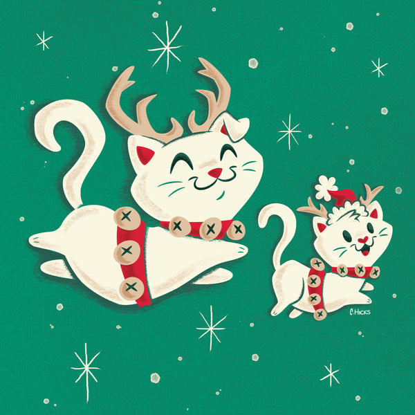 ReindeerCats Illustration by Caley Hicks