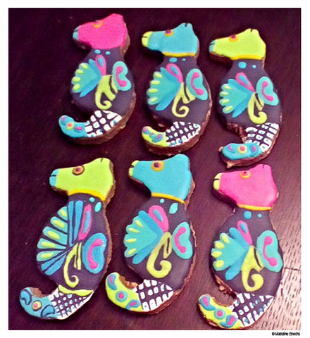 Seahorse cookies by Madeline Enochs