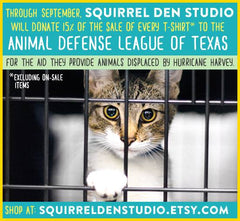 Squirrel Den Studio gives to Animal Defense Leabue of Texas