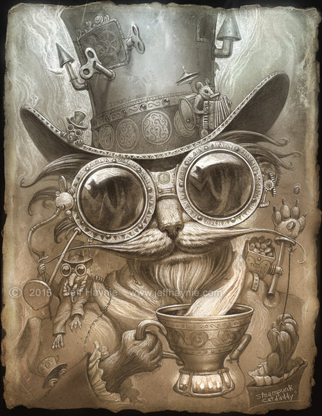 Steampunk Cat Daddy by Jeff Haynie