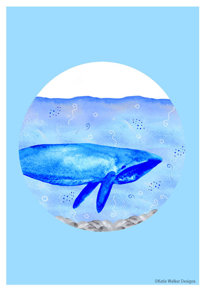 Whale by Katie Walker Designs