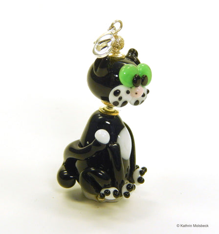Black Cat Glass Bead by Kathrin Molsbeck