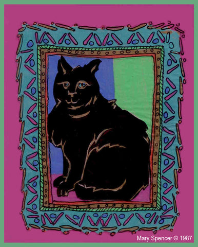 Back Cat graphic art