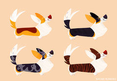 Corgi illustration by Naomi Romero