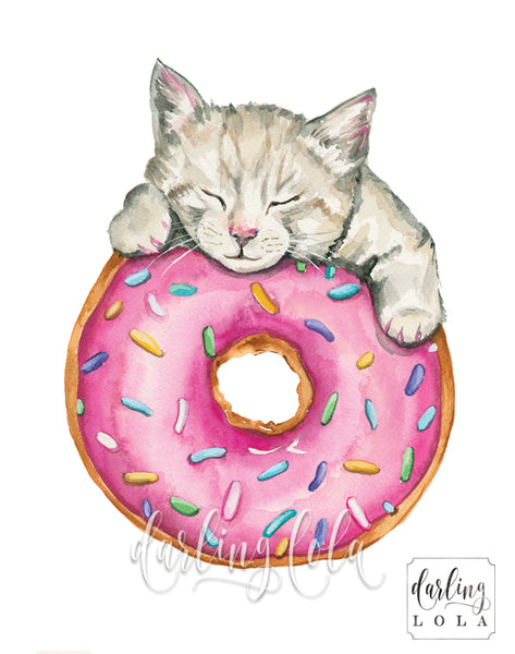 Donut cat by artist Christine De Carvalho