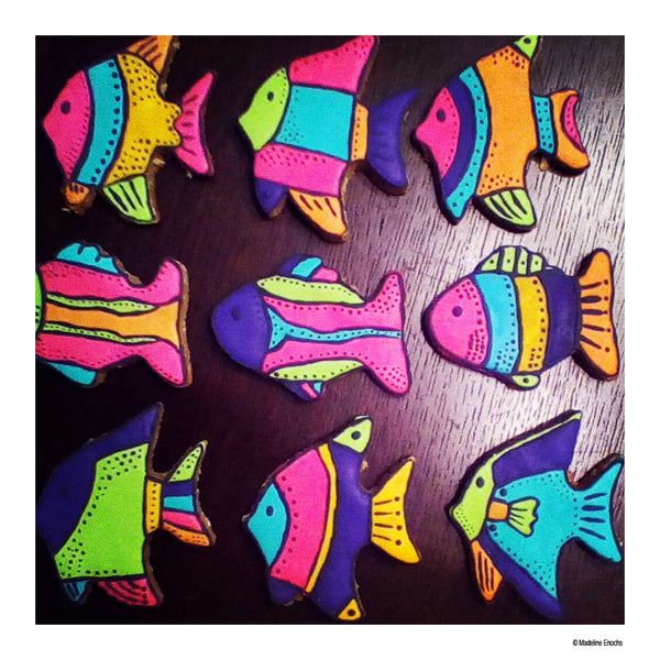 fish cookies by Madeline Enochs