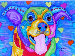 """Princess in My Heart"" dog portrait by animal artist Consuelo Okdie"