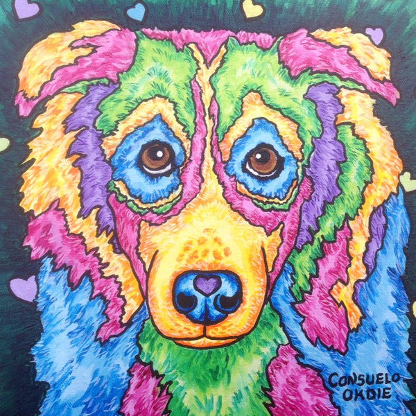 """Dakota"" Dog painting by animal artist Consuelo Okdie"
