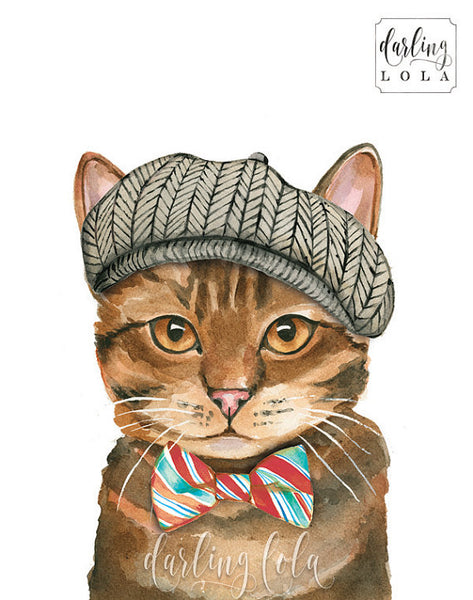 """Pageboy"" cat art by artist Christine De Carvalho"