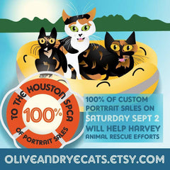 Olive and Rye cats helps Houston SPCA