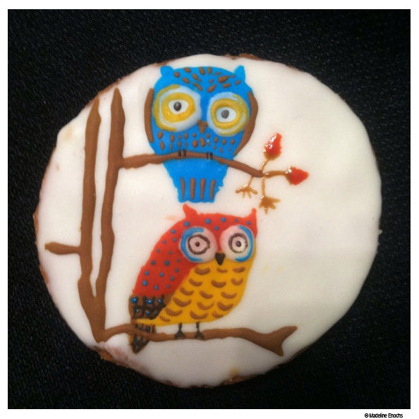owl cookies by Madeline Enochs
