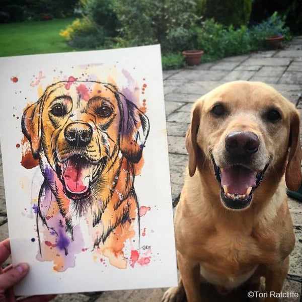 Pet Portrait by Tori Ratcliffe