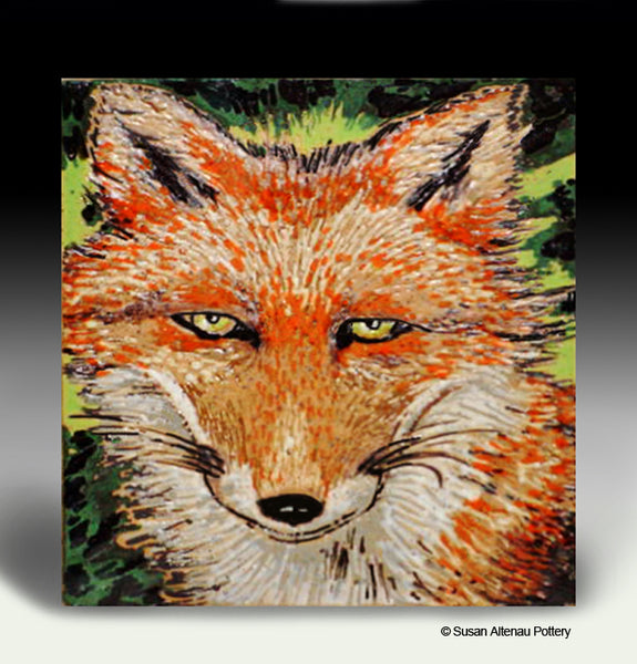 Fox Tile by Susan Altenau