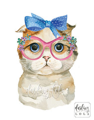 Scottish Fold Cat by Darling Lola Designs