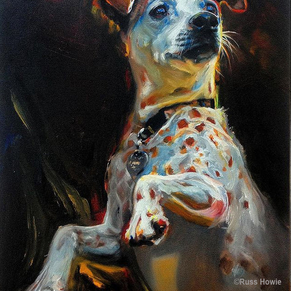 dog painting by Russ Howie