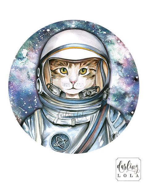 """Starman"" cat art by artist Christine De Carvalho"