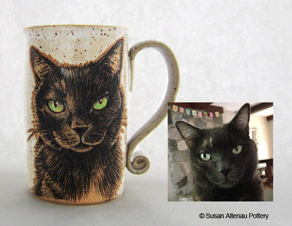 Black Cat mug by Susan Altenau