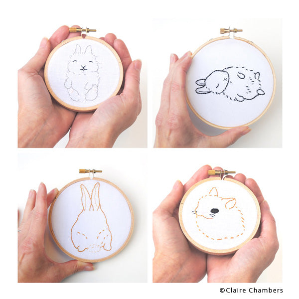Tiny Bunny Embroidery by Claire Chambers