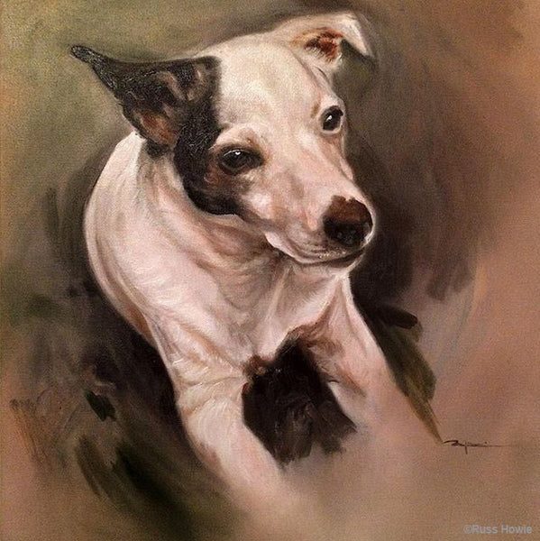 Dog portrait by Russ Howie