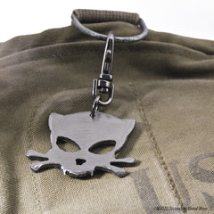Outlaw Kitty Metal Key Chain by Artist Jon WATTO Watson for Outlaw Kritters