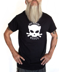 Men's Black Outlaw Kitty Tshirt