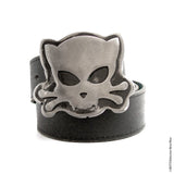 Outlaw Kitty belt buckle for cat lovers with an attitude by Outlaw Kritters