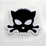 Outlaw Kitty vinyl car sticker for cat lovers