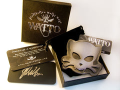 Outlaw Kitty handmade belt buckle for cat lovers by Jon WATTO Watson of Outlaw Kritters