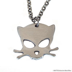 Outlaw Kitty Metal Necklace by artist Jon WATTO Watson for Outlaw Kritters