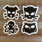 Outlaw Kritter vinyl car stickers for animal lovers with an attitude