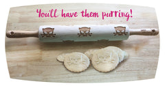 Outlaw Kitty cookie rolling pin by Sweet Rolling Pins- Make your cookies special