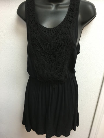 Quicksand Black Embroidered Dress