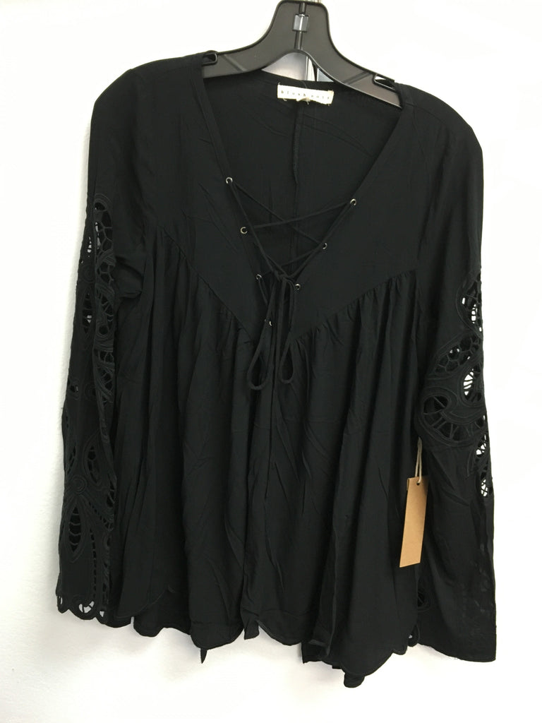 Blush Noir Black Lace Up Shirt