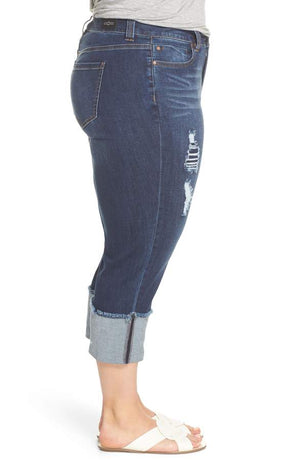 Wide Cuff Crop Straight Jean
