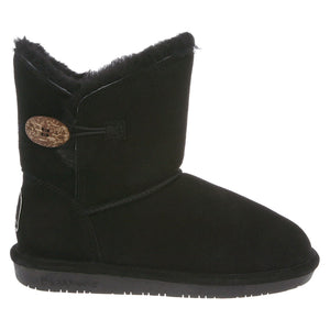 Rosie short boot in Black by BearPaw