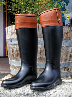 "Dirty Laundry ""Raffie"" Black Rain Boot"