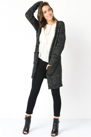 Long Sleeve Open Knit Cardigan