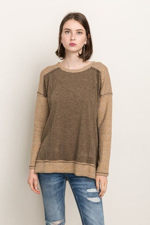 Contrast Oversize Sweater By Mystree