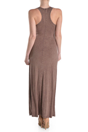 Bejeweled Neck Line Race Back Maxi Dress By T-Party