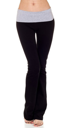 T-Party Black/HGrey Contrast Waistband Yoga Pant