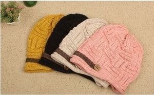 Ladies Knitted Beanie Cap