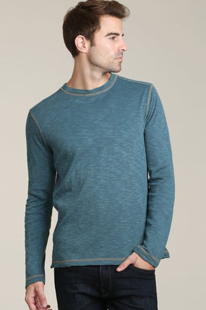 Kirby Cove Sleeve Thermal Crew Henley Tee