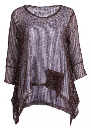 Plus Size Poncho With Pocket
