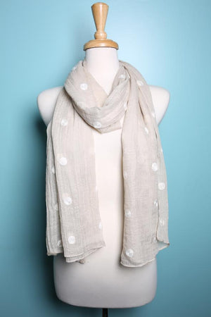 Embroidered Dot Pattern Scarf by Fredd & Basha