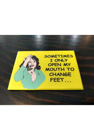 Magnet - Mouth to Feet - By The Card Lady
