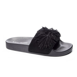 Faron Black Jelly Sandals