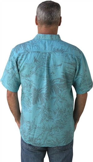 Island Tropical Hut Camp Shirt by Dash Hemp