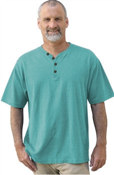 Conifer Lane Short Sleeve Henley By Dash Hemp