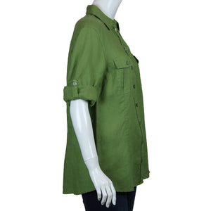 3/4 Sleeve 2 Pocket Safari  Top